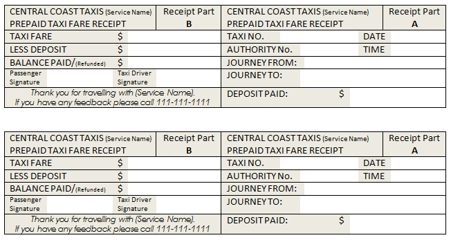 Fake Taxi Receipt Template For Word Document Templates